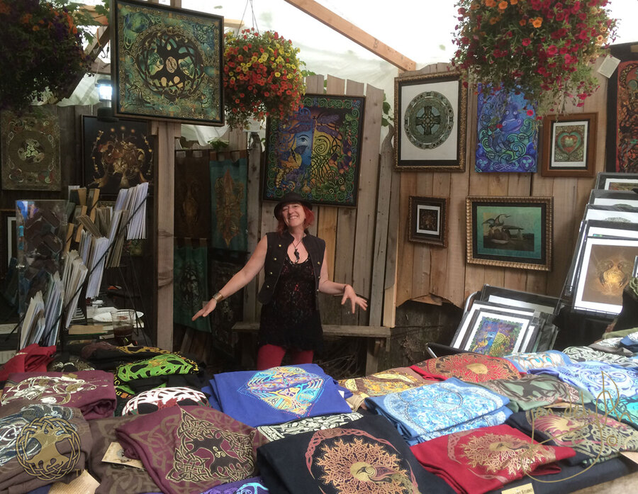 Jen Delyth Oregon Country Fair Booth