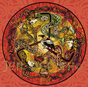 Triple Morrigan Celtic Art Studio Symbols